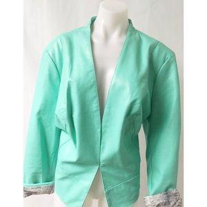 Faux Leather Coat Size 2X